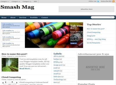 Template blogger de noticias