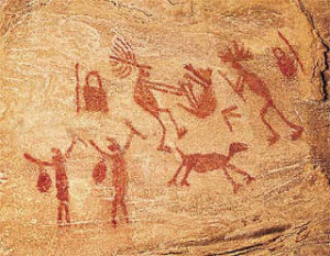 Pinturas rupestres pré históricas.